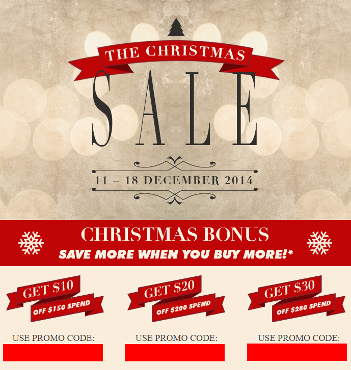 Creative Promo Code – Christmas 2014 Sales (till 18 Dec 2014)