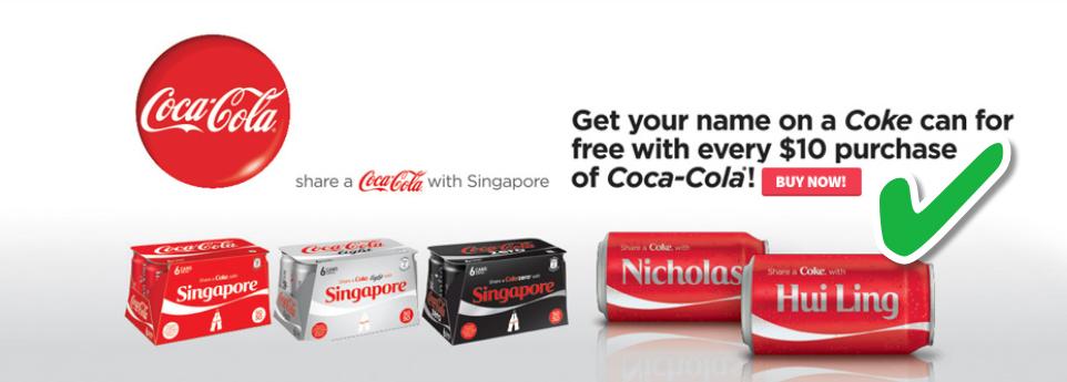 redmart share a coke campaign
